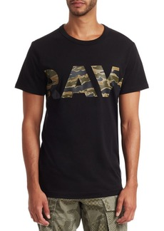 G Star Raw Denim Tahire Camo Logo T-Shirt