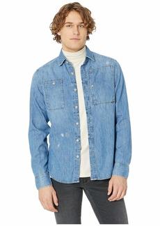 G Star Raw Denim Utility Hybrid-Archive Slim Shirt Long Sleeve