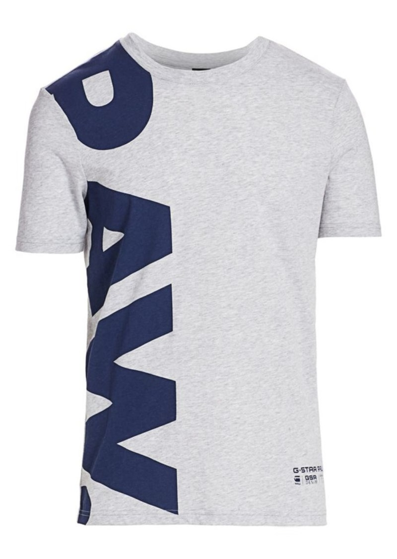 G Star Raw Denim Vertical Logo Tee