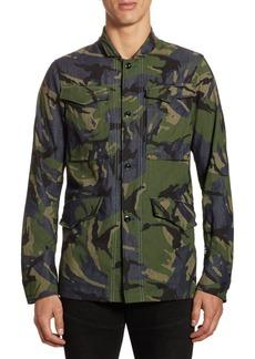 G Star Raw Denim Vodan Camouflage Cotton Worker Button-Down Shirt