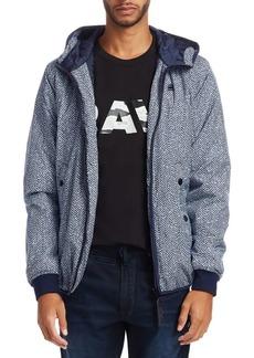 G Star Raw Denim Whistler Herringbone Hooded Jacket