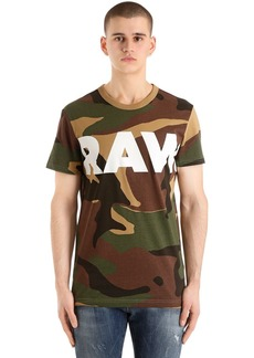 G Star Raw Denim Woodland Camo Print Cotton T-shirt