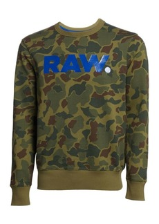 G Star Raw Denim Zeabel Camouflage Logo Sweatshirt
