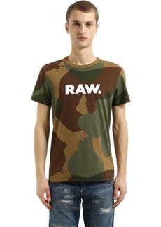 G Star Raw Denim Zost Mbc Camo Print Jersey T-shirt