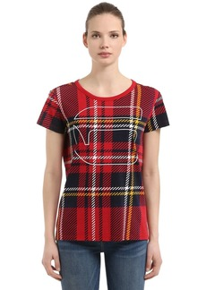 G-Star Royal Tartan Printed Cotton T-shirt