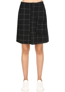 G-Star Tendric High Waist Flannel A-line Skirt