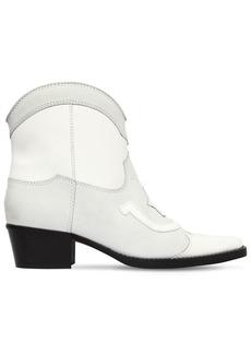 Ganni 40mm Meg Leather Cowboy Boots