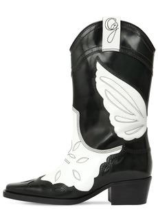 Ganni 50mm High Texas Leather Cowboy Boots