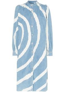 Ganni Acadia bleached-spiral dress