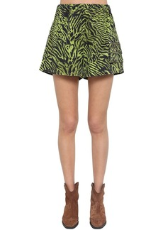 Ganni Animalier Printed Shorts