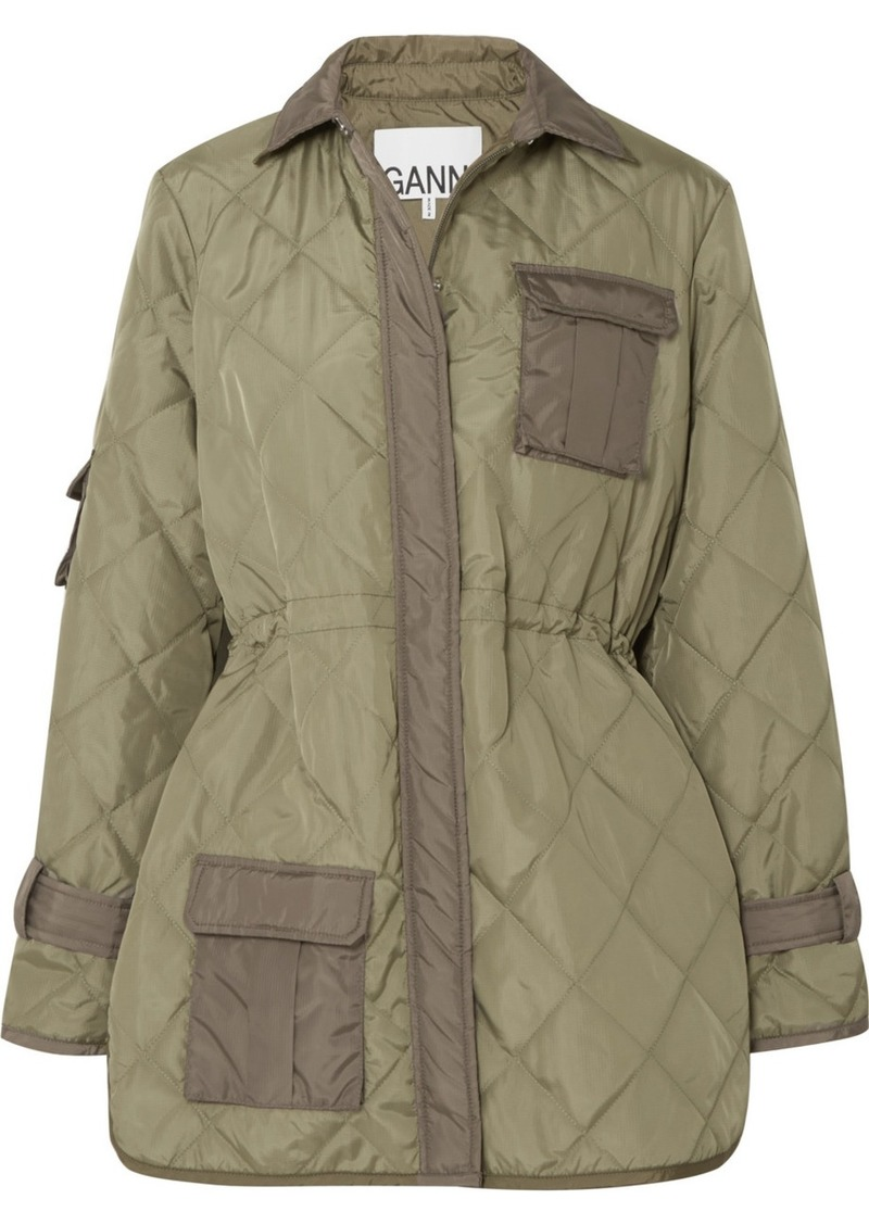 Ganni Quilted Shell Jacket