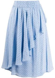 Ganni asymmetric ruffled skirt