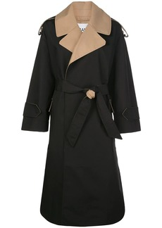 Ganni belted trench coat