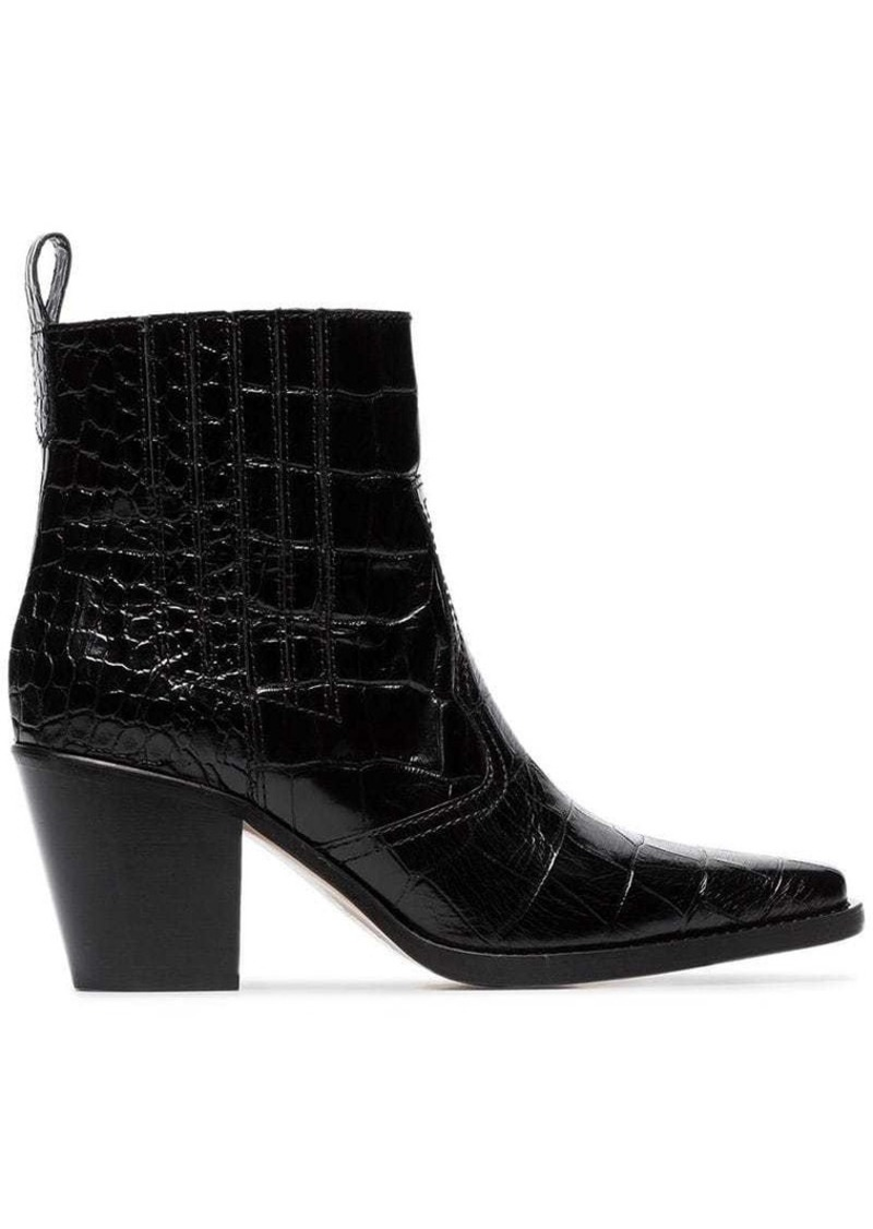 black Callie 70 leather cowboy boots