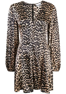 Ganni Blakely leopard dress