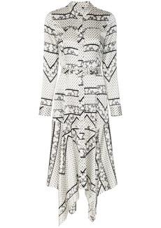Ganni Blakely silk blend shirt dress