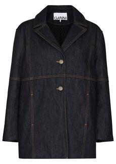 Ganni boxy-fit cotton denim jacket