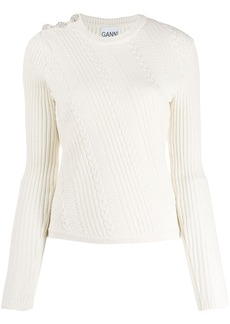 Ganni cable knit sweater