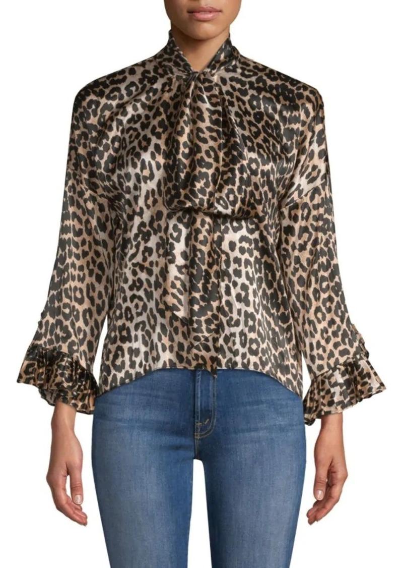 4cb30254 Ganni Calla Leopard Silk Blouse | Casual Shirts