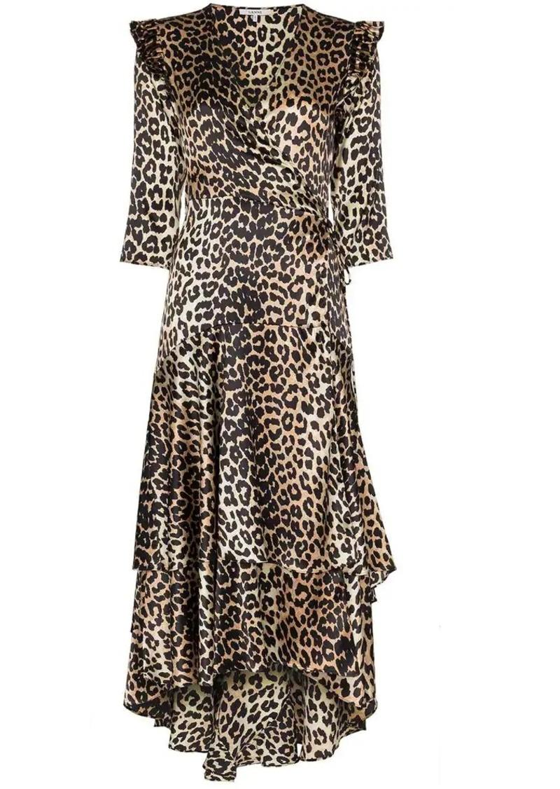 2438cac5 Ganni calla silk wrap dress