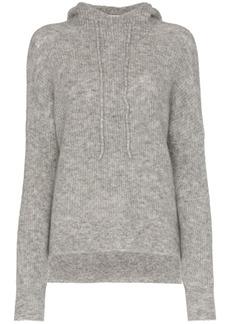 Ganni Callahan knitted drawstring hoodie