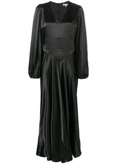Ganni Cameron polka dot maxi dress