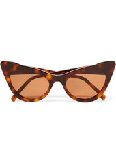 Ganni Cat-eye Tortoiseshell Acetate Sunglasses