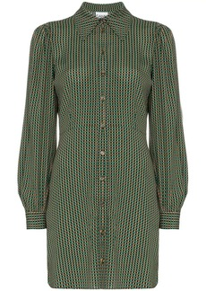 Ganni check print shirt dress
