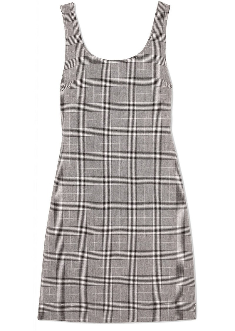 Ganni Checked stretch-woven mini dress