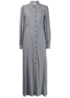 Ganni checkered long shirt dress