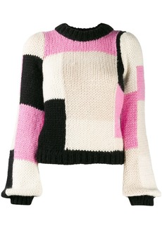 Ganni colour block jumper
