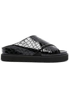 Ganni croc-effect leather sandals