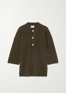 Ganni Crystal-embellished Cashmere Sweater