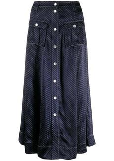 Ganni dot print midi skirt