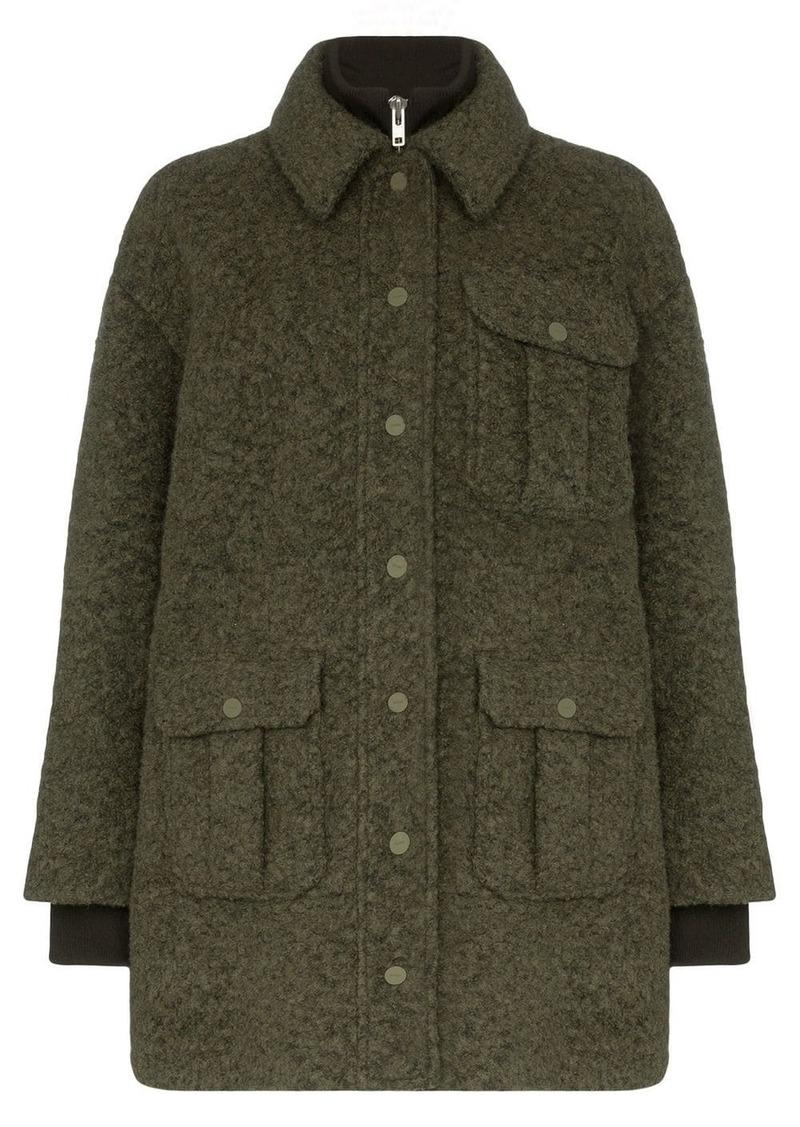 Ganni double-layered utility pocket coat