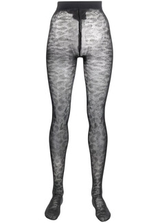 Ganni EcoCare patterned tights