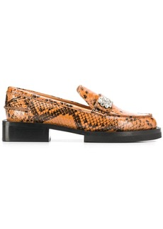 Ganni embellished leather loafers