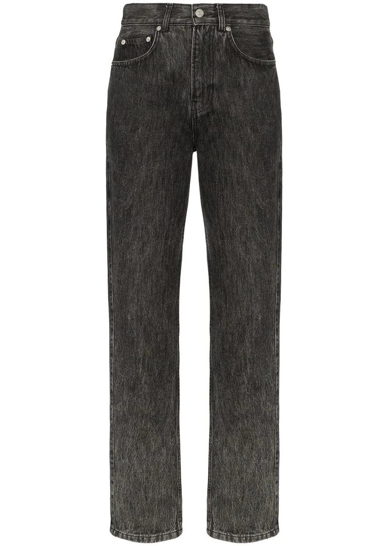 Ganni faded straight-leg jeans