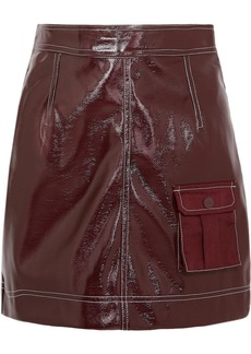 Ganni Faux Patent-leather Mini Skirt