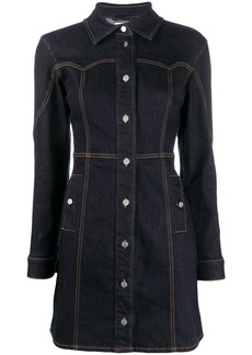 Ganni fitted denim shirt dress