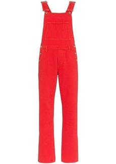 Ganni flare-leg denim overalls