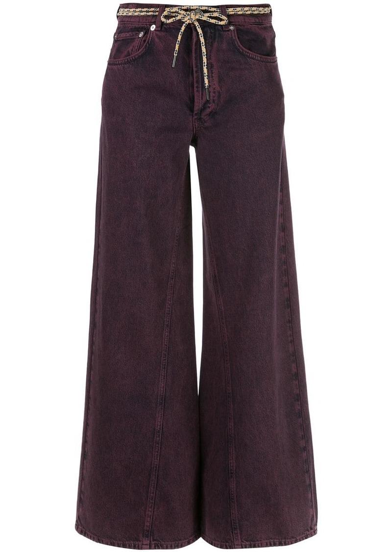 Ganni flared belted jeans