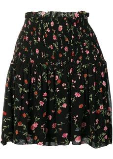 Ganni floral pattern smock skirt