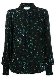 Ganni floral print shirt