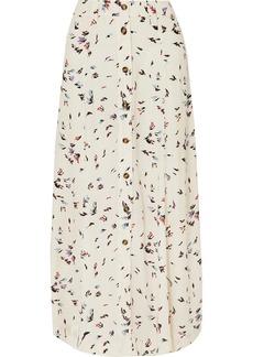 Ganni Floral-print Crepe Maxi Skirt