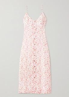 Ganni Floral-print Georgette Midi Dress