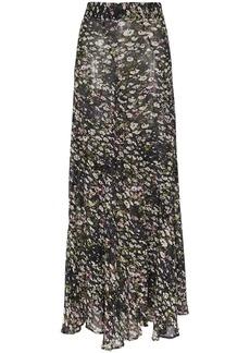Ganni floral print maxi skirt
