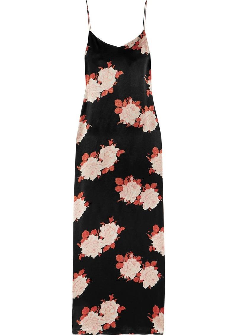 a6f6a99493d Ganni Floral-print satin dress