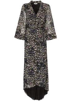 Ganni floral print wrap dress