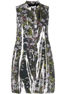 Ganni floral sleeveless blouse